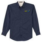 S608 - B287E001 - EMB - Long Sleeve Easy Care Shirt