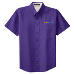 L508 - C212-Brightpoint Logo - EMB - Ladies Short Sleeve Easy Care Shirt