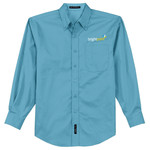 L608 - C212-Brightpoint Logo - EMB - Ladies Long Sleeve Easy Care Shirt